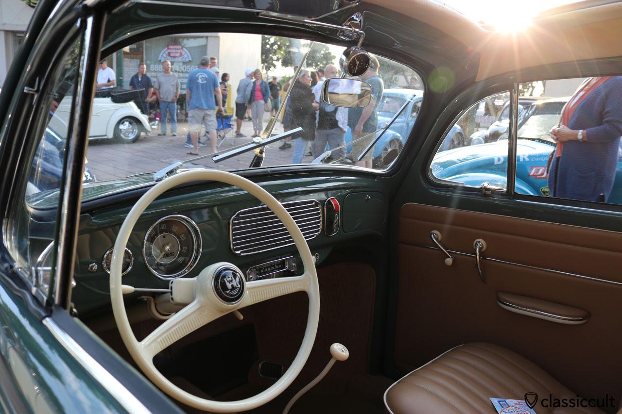 Ragtop Oval Bug dash view