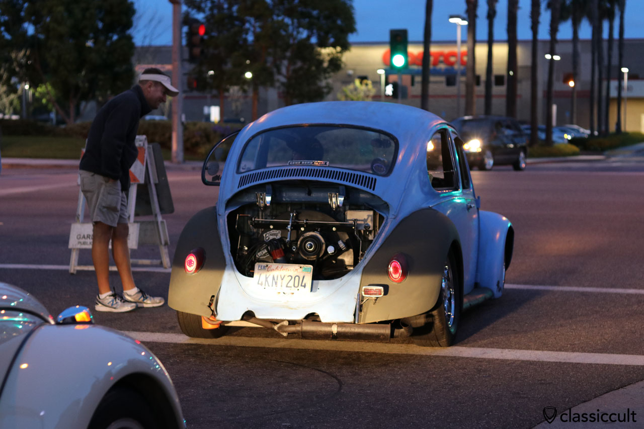 Race Bug cruising home after DKP Pre-Classic Cruise Night 2016