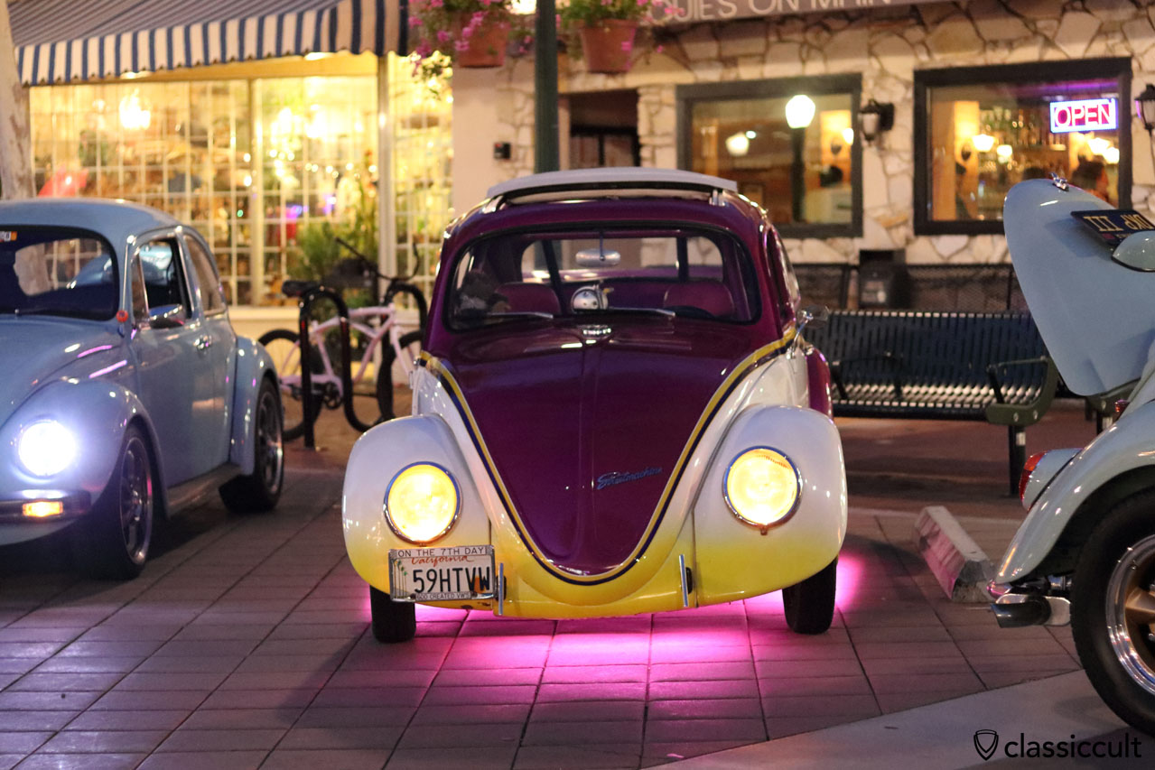 VW Beetle with illuminated floor, DKP Pre-Classic 2016, 8:30 p.m.