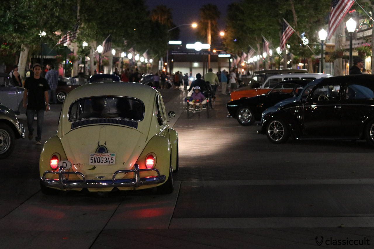 VW Beetle cruising home after DKP Pre-Classic Meeting 2016