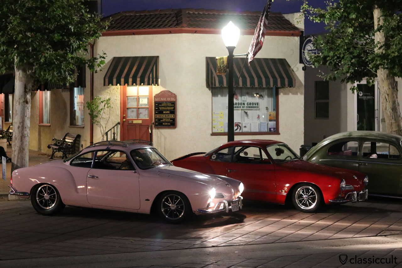 VW Karmann-Ghia at night