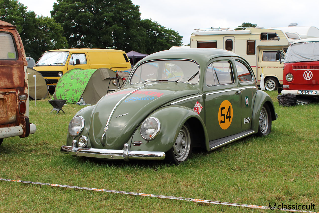VW Oval Bug with TELEFUNKEN ads