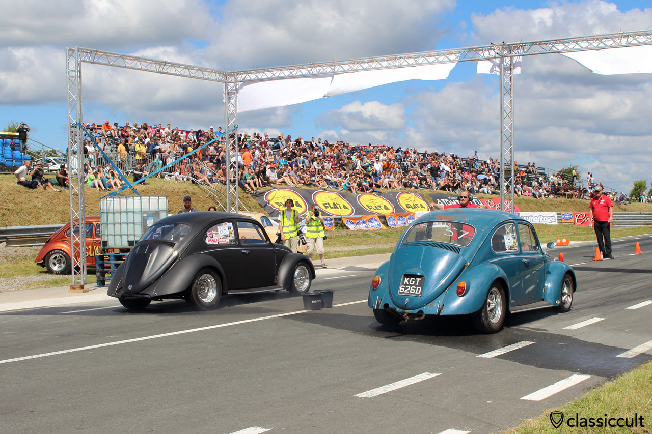 VW Beetles Drag Race, European Bug-In