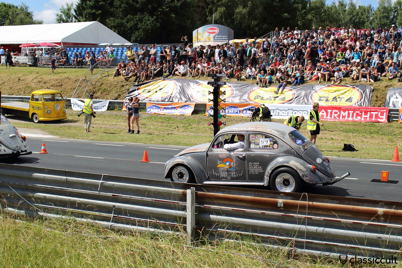 Surfin Bird 1963 Race VW Bug, EBI, Chimay 2015