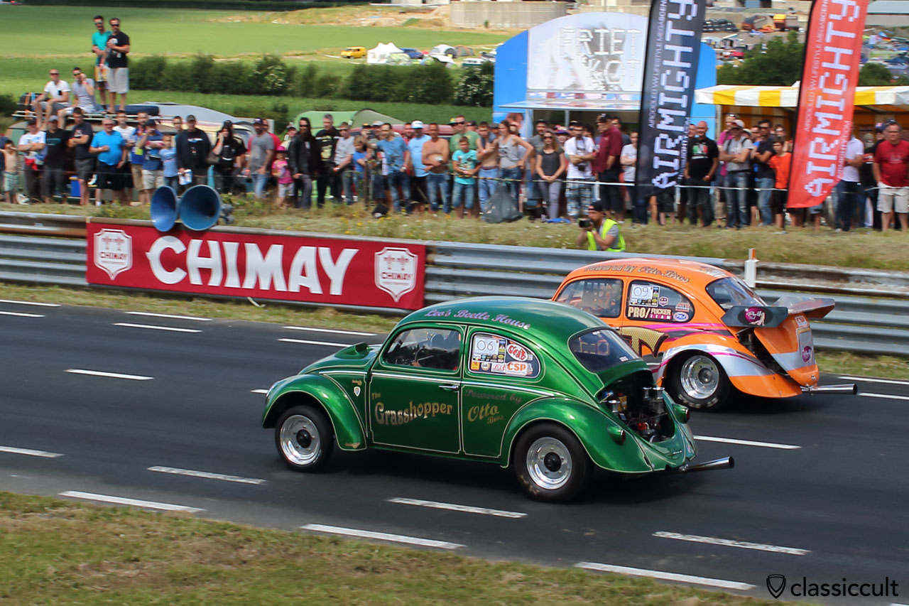 The Grasshopper Otto Bros VW Beetle, Drag Race at European Bug-In 2015 in Chimay