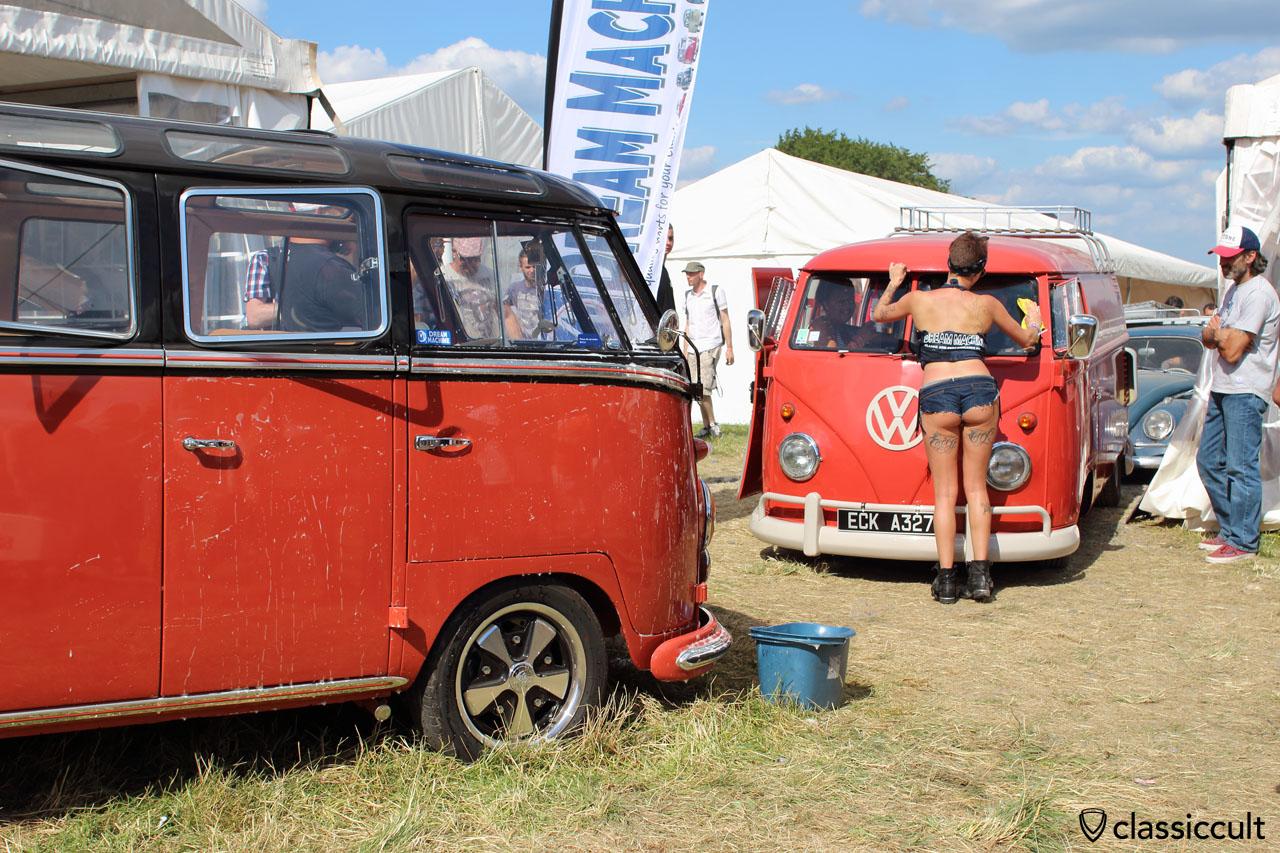 EBI 6, Dream Machine girls, VW Split Bus car wash