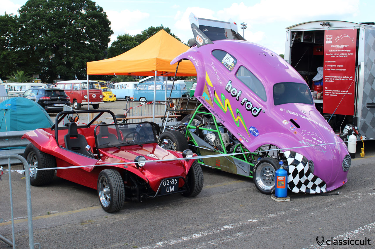 hot rod CLASSICS RACING, engine is cooled by fan