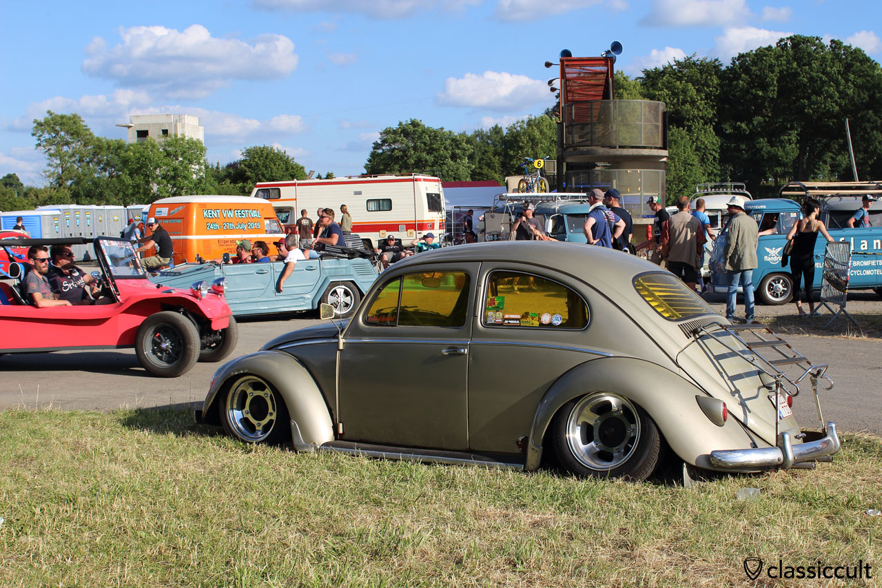 slammed VW Bug with tinted windows
