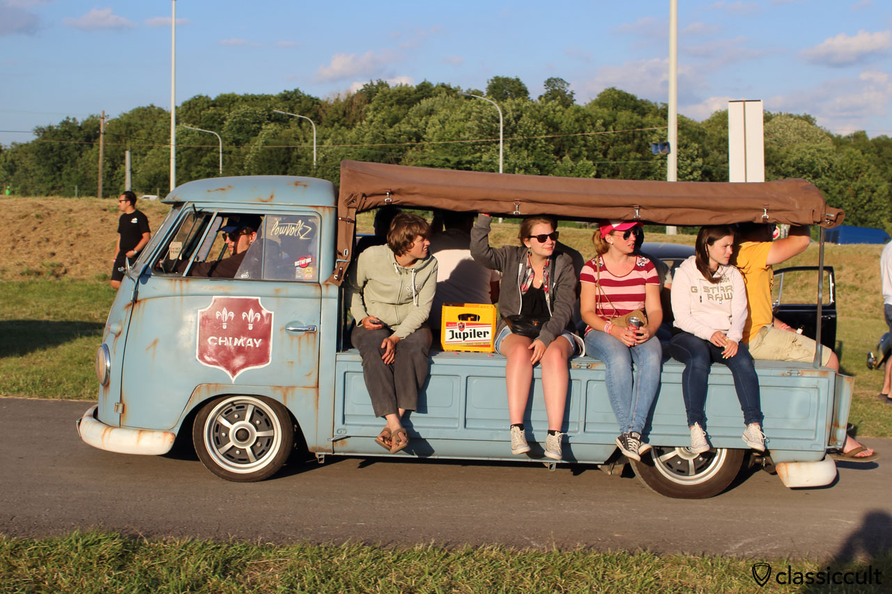 CHIMAY T1 Split pick up sunset cruise at European Bug-In 2015, 8:15 p.m.
