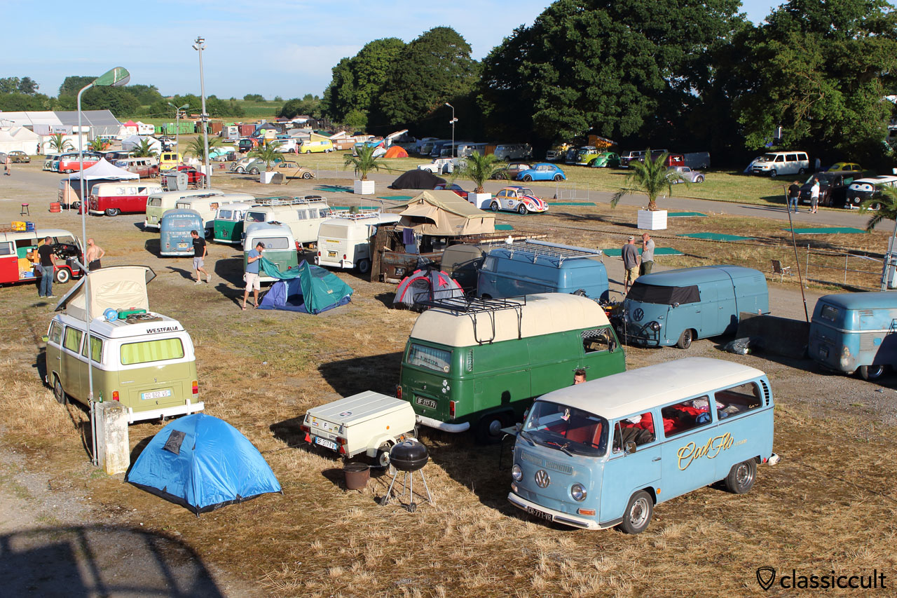 European Bug-In Show & Shine 2015 early in the morning at 7:55 a.m.