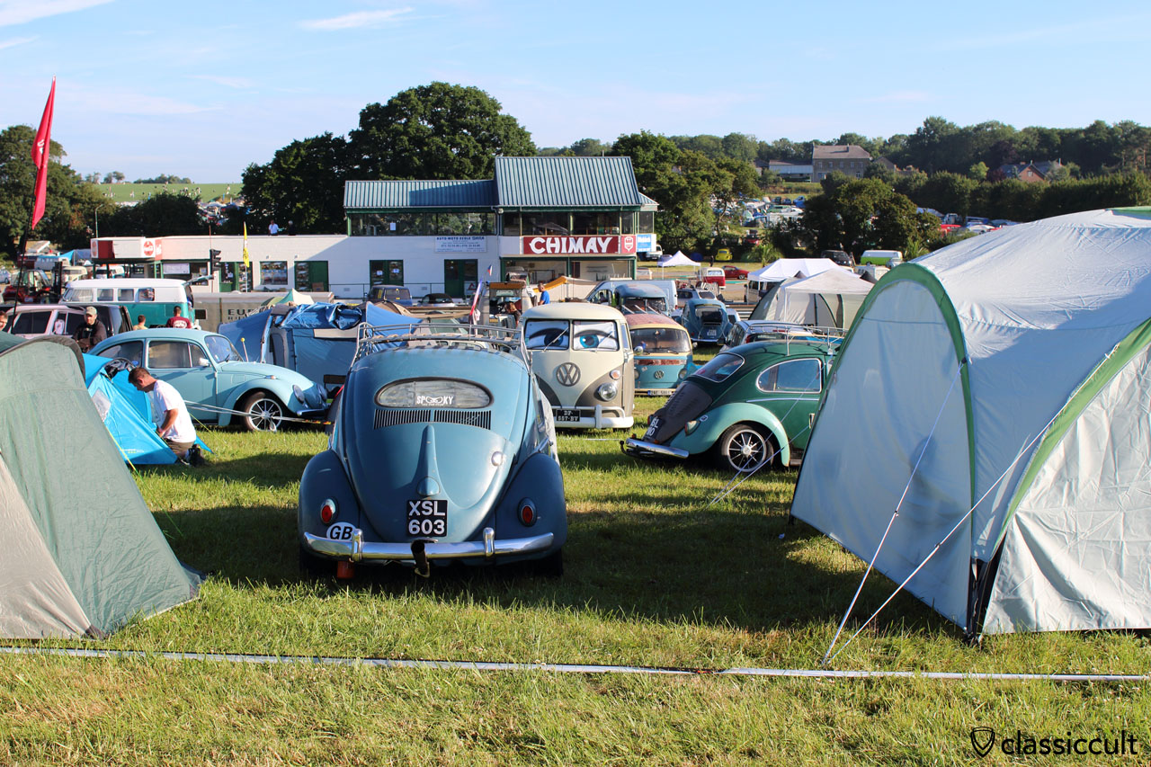 VW Oval Bug from GB, Camping at EBI