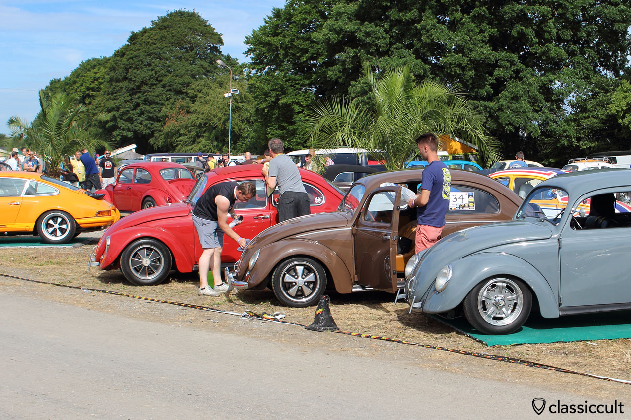VW Beetles getting polished for the EBI Show 2015