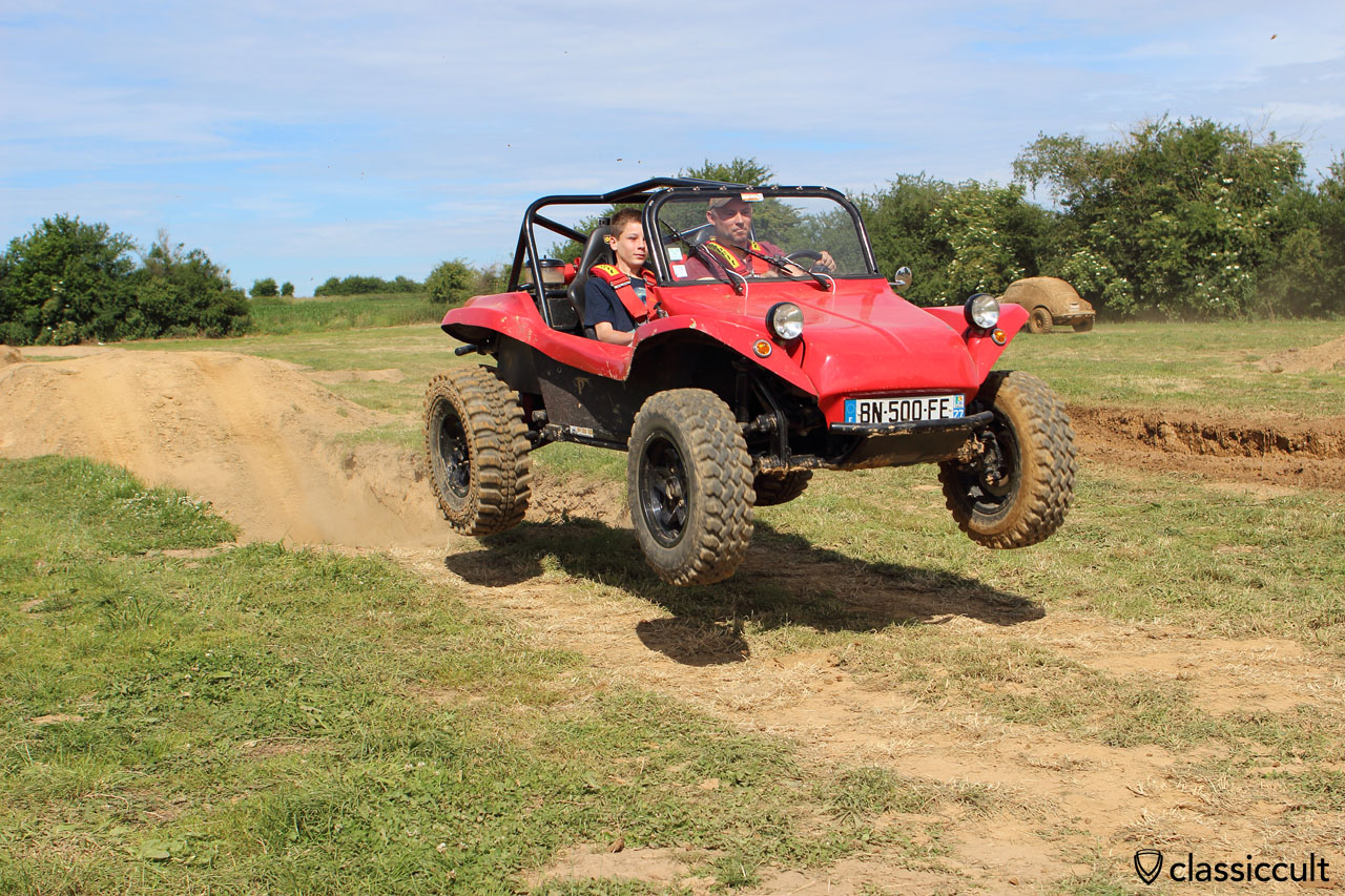 VW Buggy in the air, European Bug-In off-road track 2015