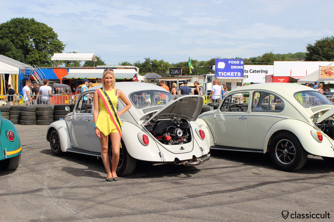 Miss European Bug-In Debbie Adams at the Cal looker meeting, EBI 2015