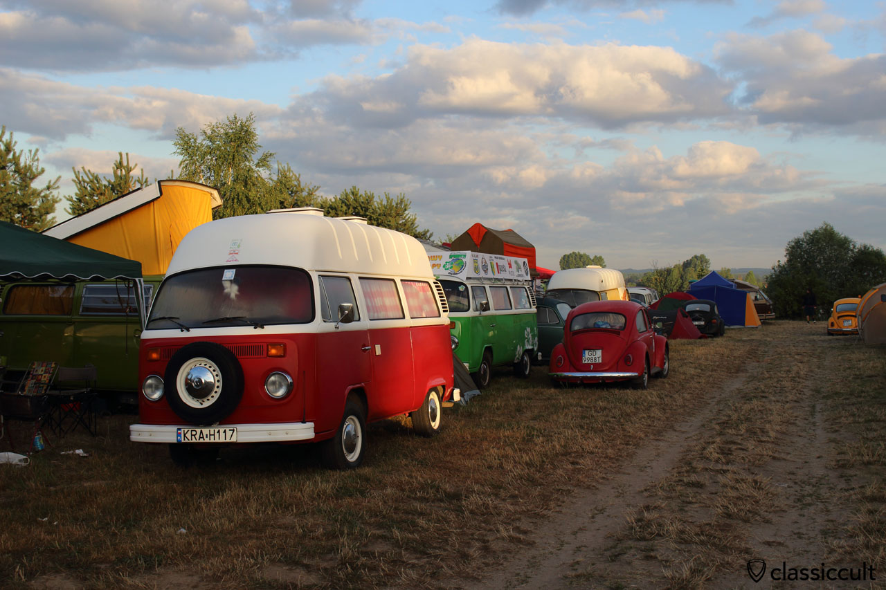first light, VW Camping, Garbojama 2015
