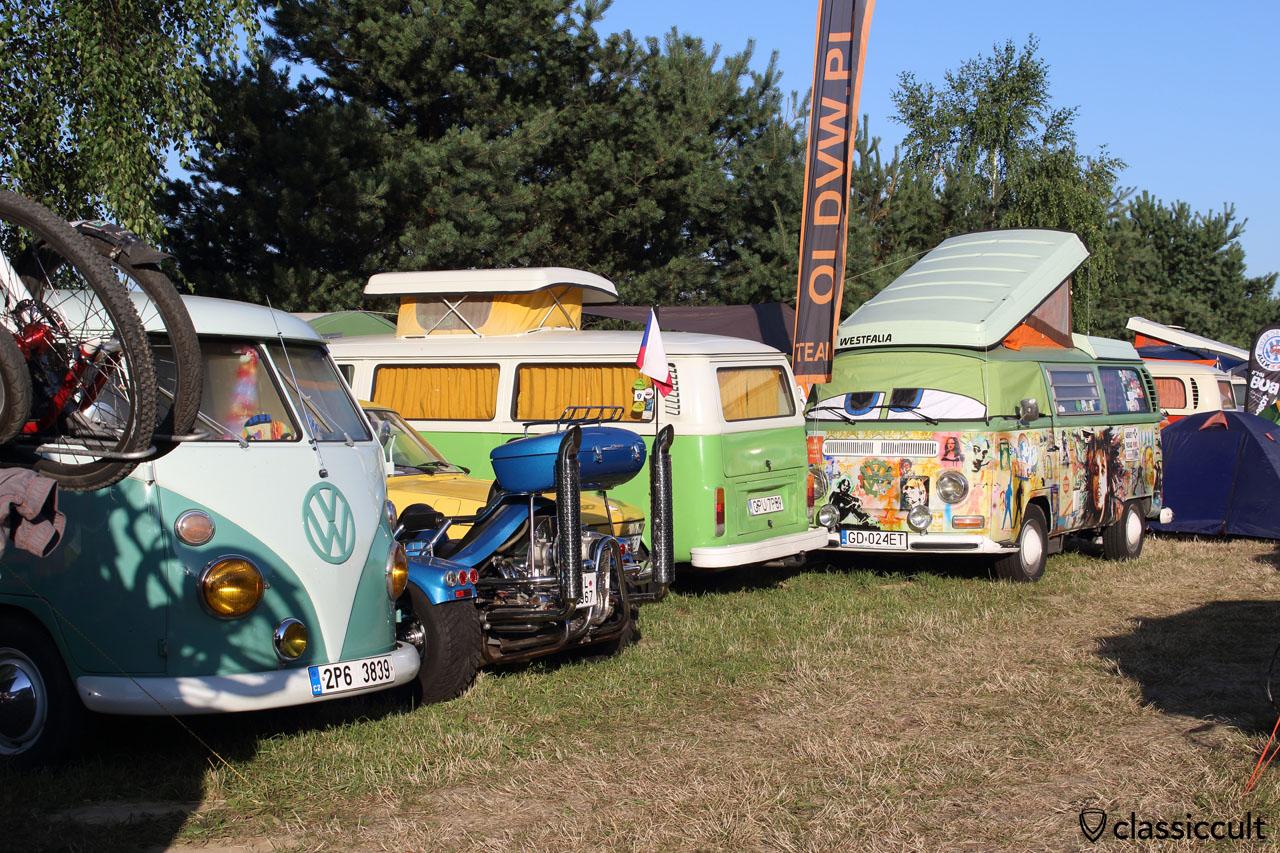 T1 Split, T2a, T2b Camper Van