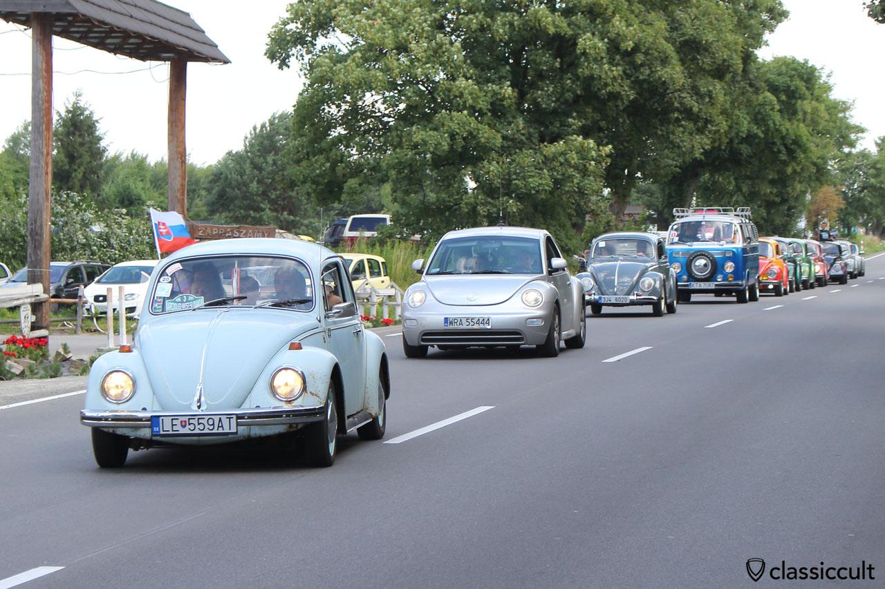 VW parade to Wawel Castle