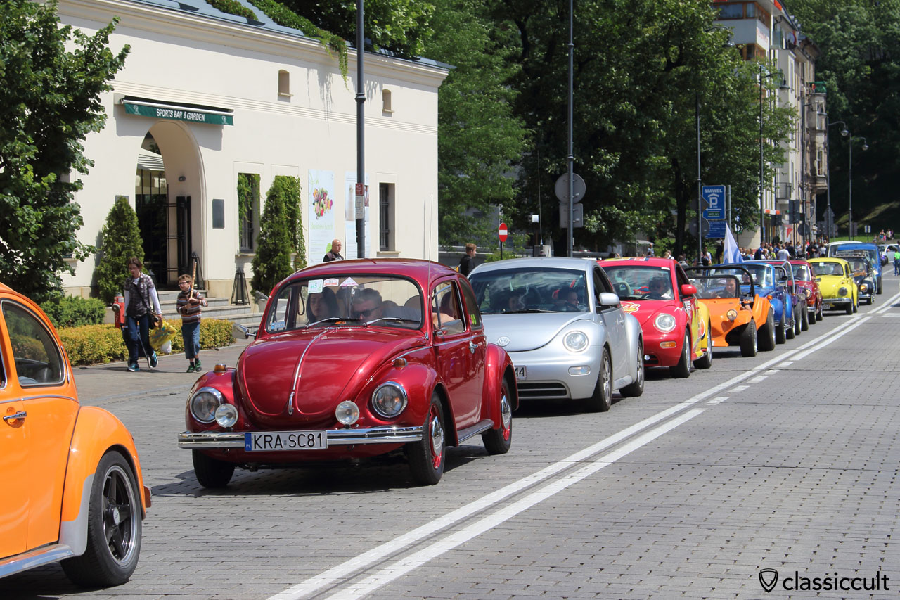 VWs on the way back to Zalew Na Piaskach