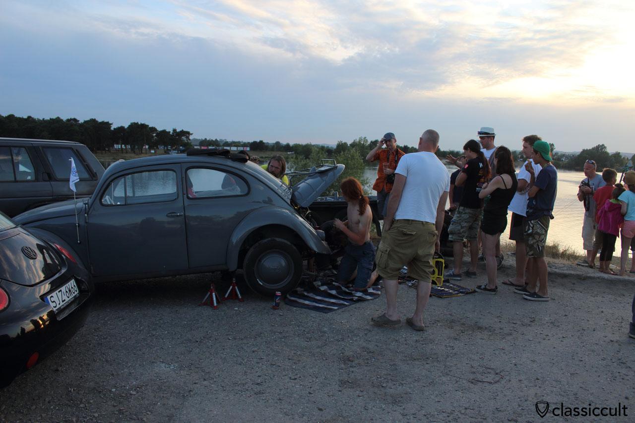 VW Oval engine change
