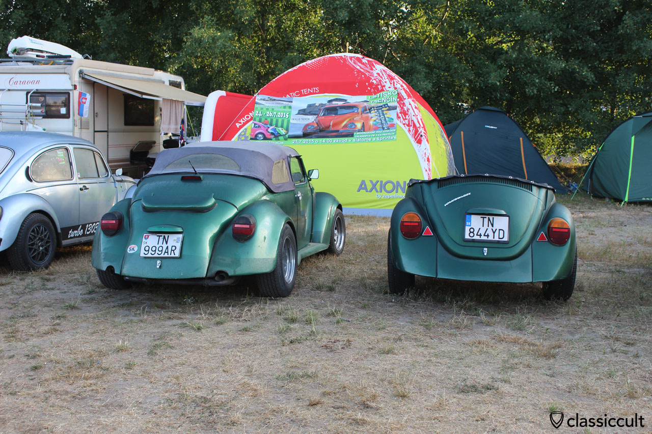 VW Beetle with trailer from Slovakia
