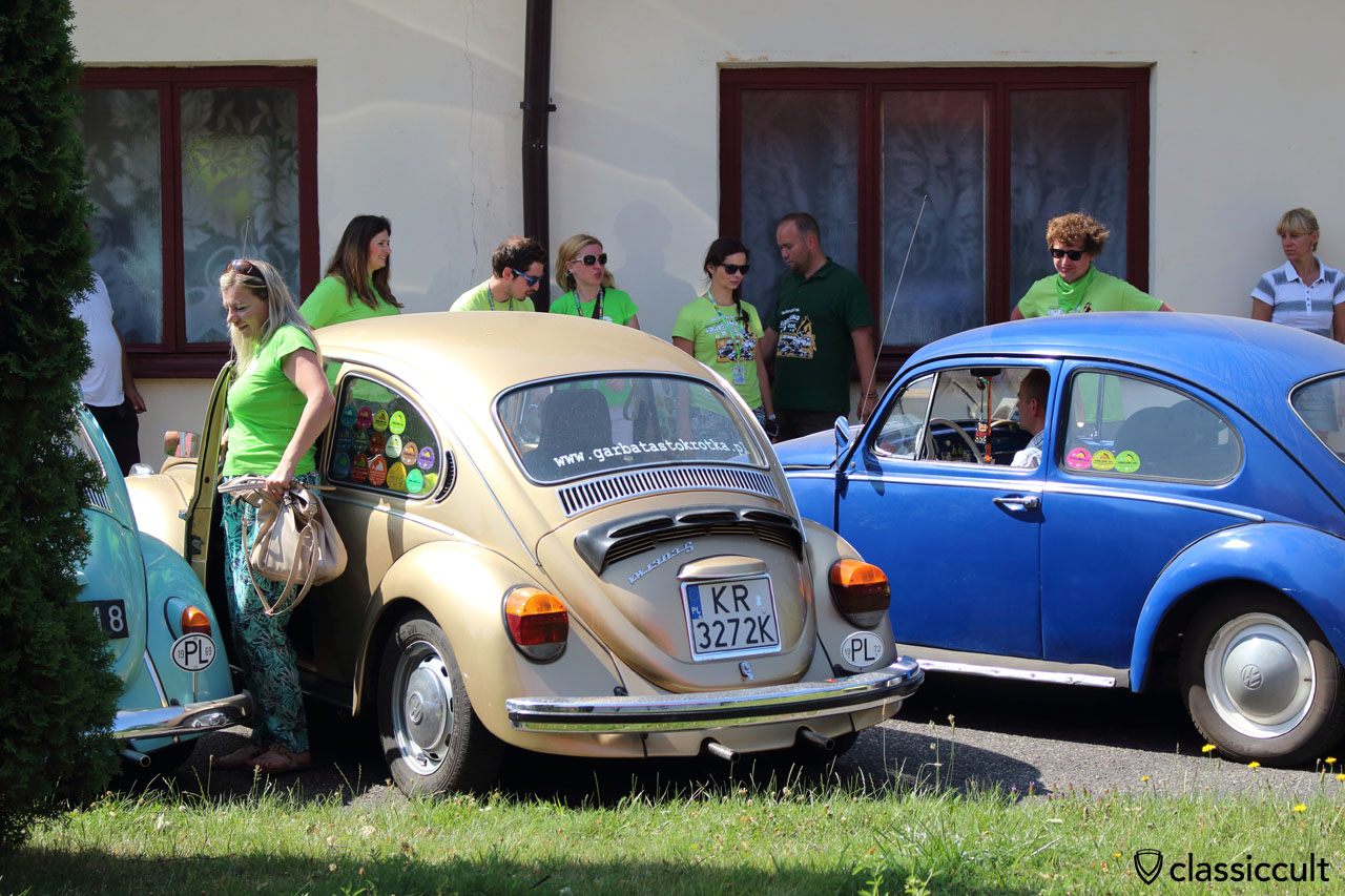 VW parade arrives at church