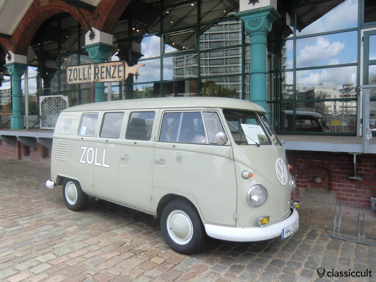 german customs vw t1 standard bus hamburg speicherstadt. Black Bedroom Furniture Sets. Home Design Ideas