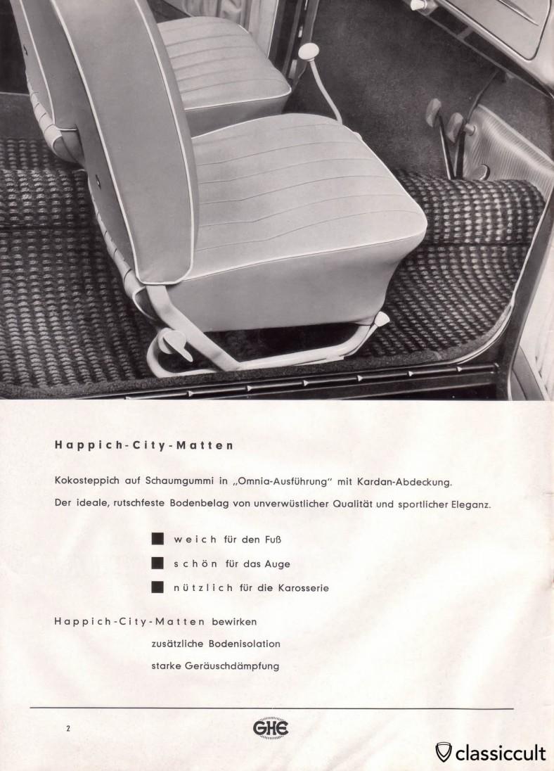 GHE Happich Zusatz-Ausstattung Katalog 1958