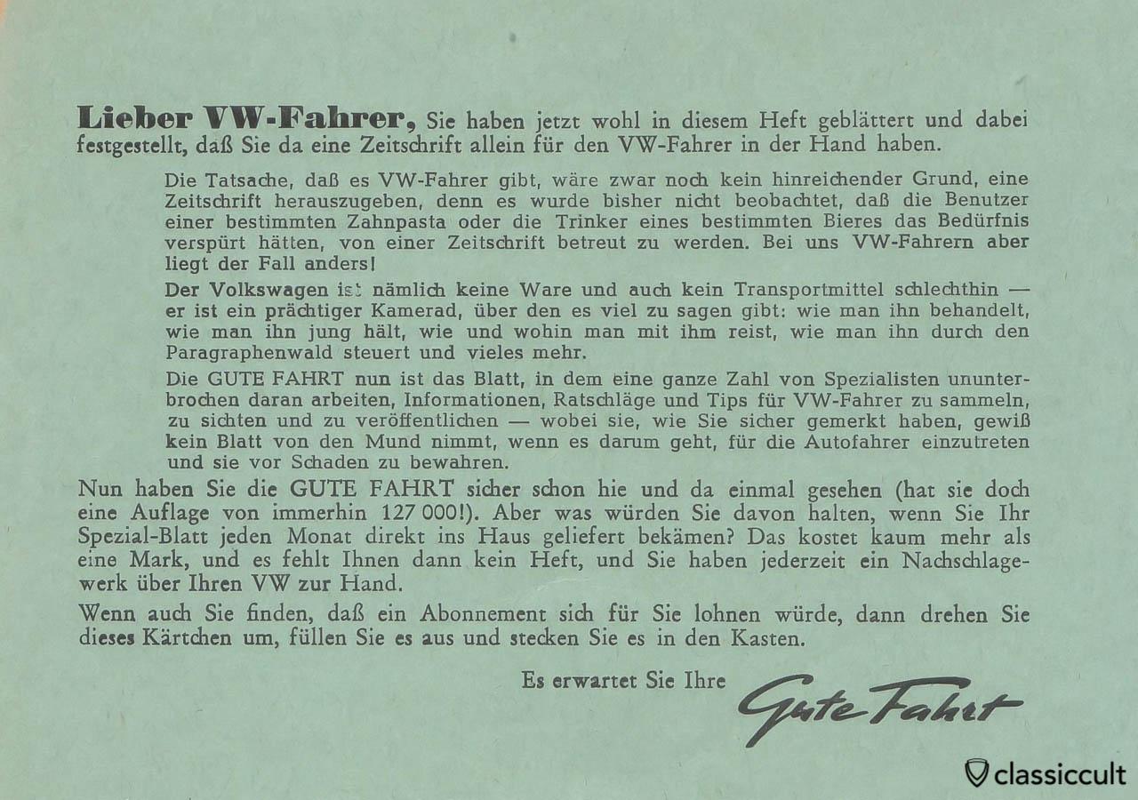 Gute Fahrt Zeitschrift 03/1955 Abo