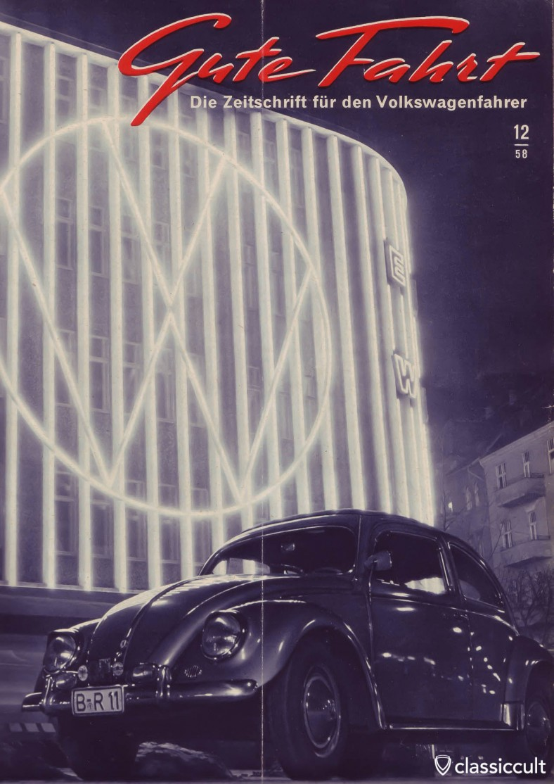Gute Fahrt Magazine 1958-12 Cover