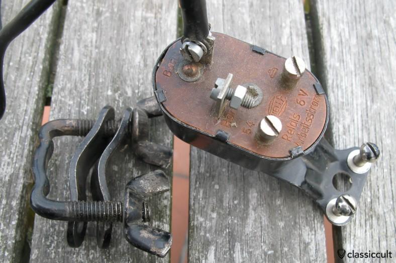 Vintage Hella 6V Emergency Warning Relay rear side