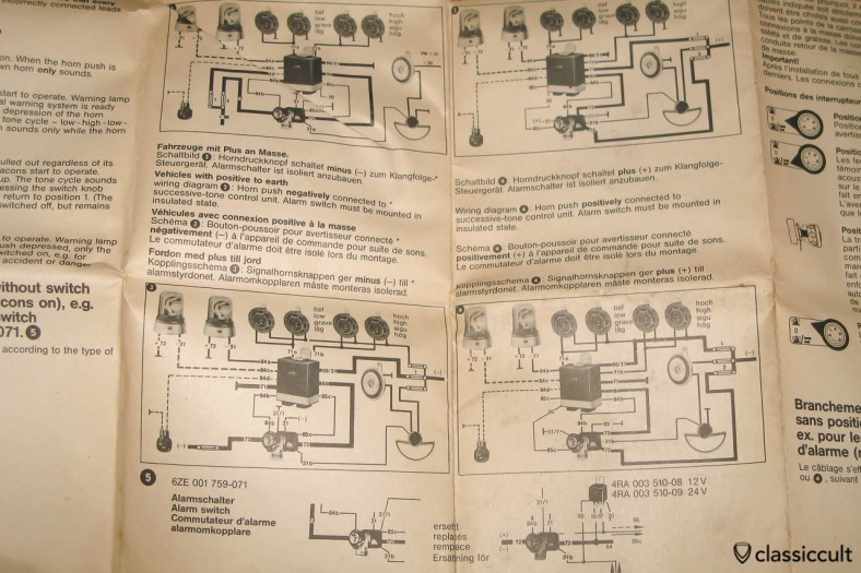 Hella emergency control tone sequencing relay wire instruction