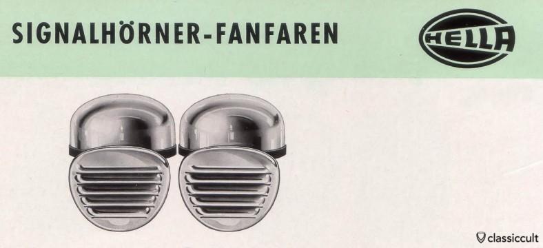Hella fanfare horn VW oval 1953-1957