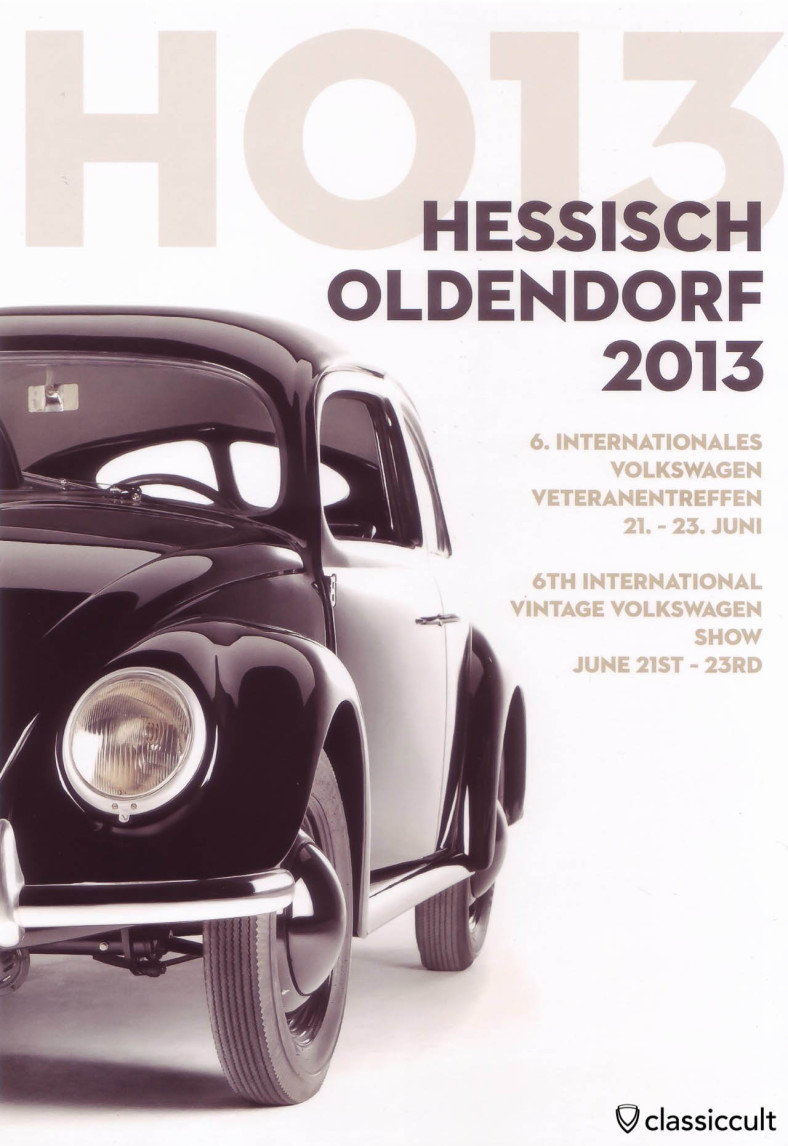Hessisch Oldendorf 6. International Vintage Volkswagen Show 21.06.2013 - 23.06.2013 Flyer