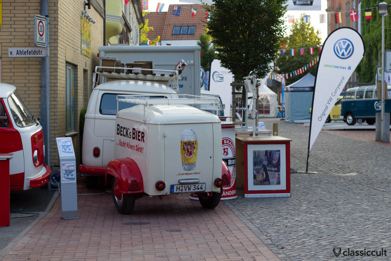 Becks Bier T1 Bus, 6. Internationales Volkswagen Veteranentreffen in Hessisch Oldendorf 2013