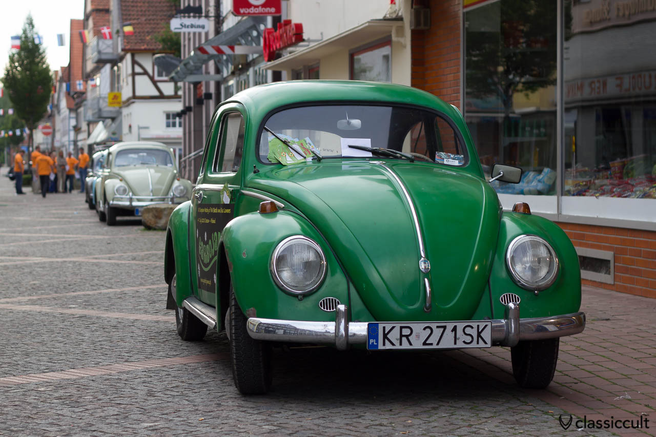 Oval Bug from Poland with garbojama.pl advertisement, Hessisch Oldendorf VW Show 2013