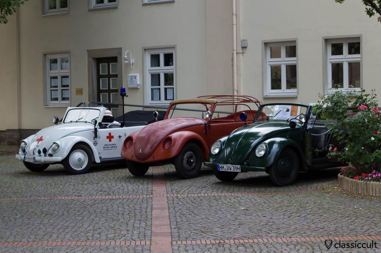 VW Papler, Hebmueller Police Cabriolet and Beetle Police Cabriolet, Hessisch Oldendorf Vintage VW Show 2013