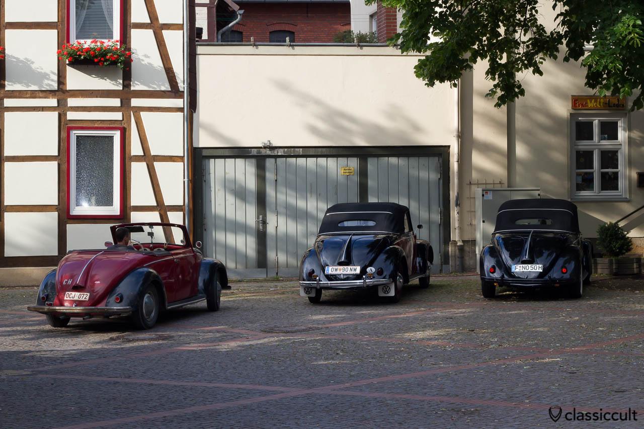 drei Hebmüller auf dem 6. Internationales Volkswagen Veteranentreffen in Hessisch Oldendorf 2013