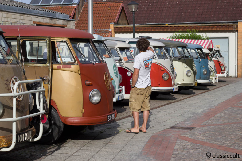 VW T1 Split Bus Line up Hessisch Oldendorf 2013