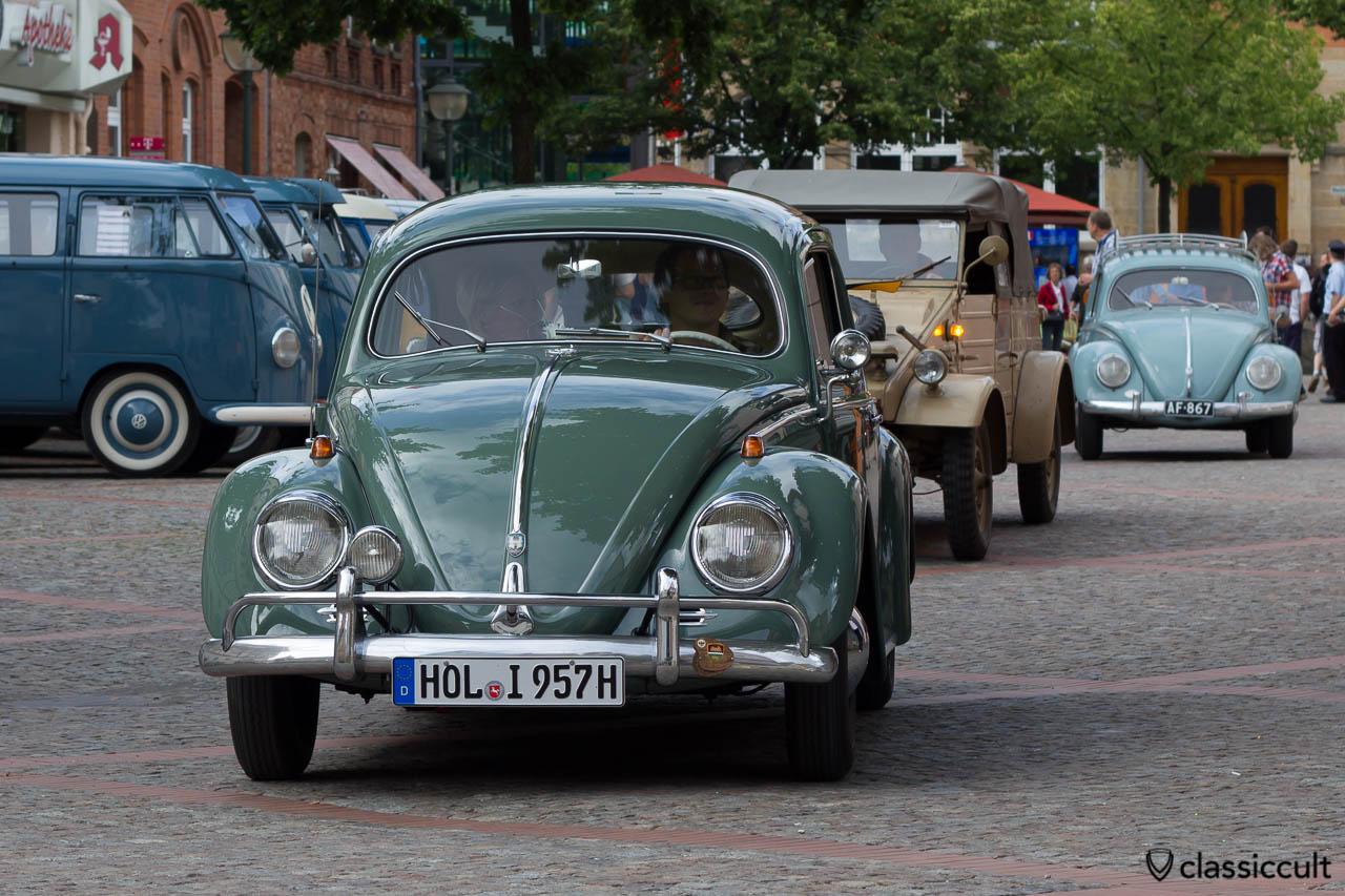 1957 VW Käfer Ovali aus Holzminden Deutschland, Veteranentreffen Hessisch Oldendorf 2013