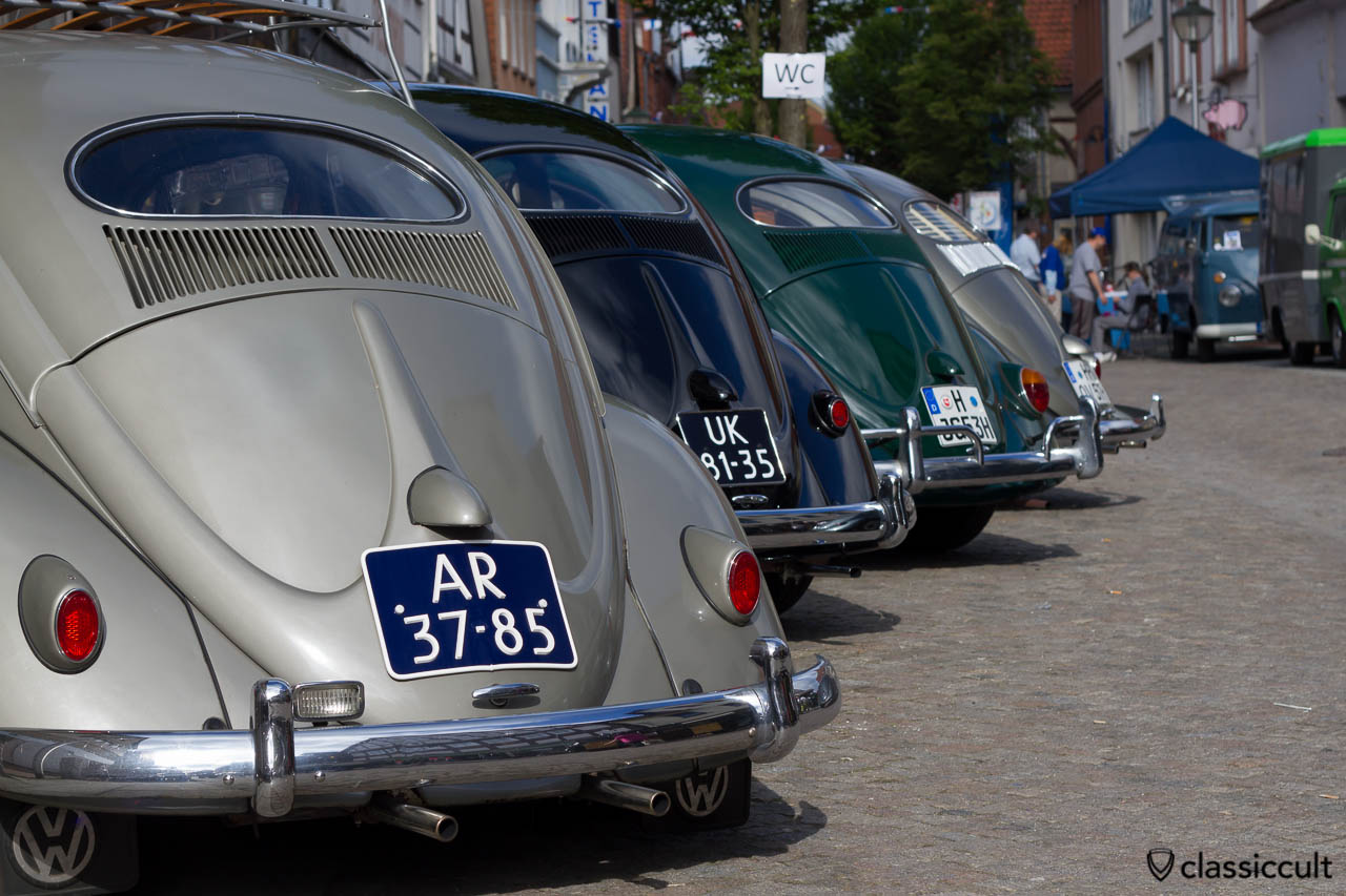 Oval Beetle rear line up, 6. VW Show Hessisch Oldendorf 2013