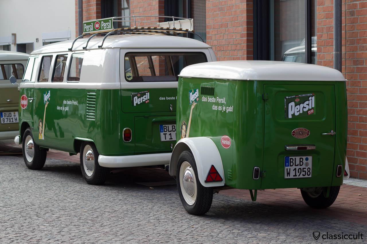 Persil T1 Bus mit Persil Anhänger aus Bad Berleburg, Hessisch Oldendorf 2013, 6. Internationales Volkswagen Veteranentreffen