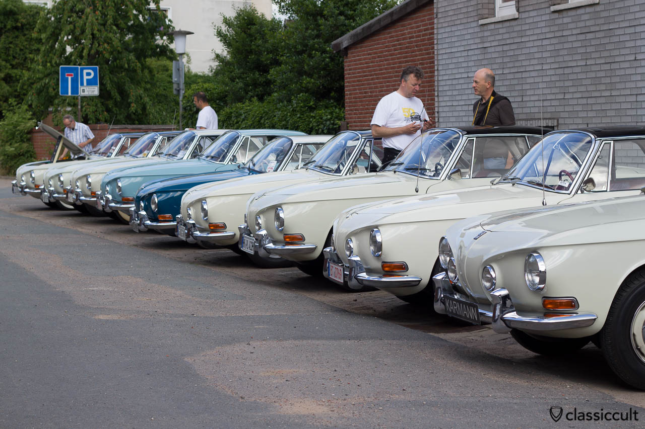 VW Karmann Ghia Typ 34 Line-up, Hessisch Oldendorf 2013