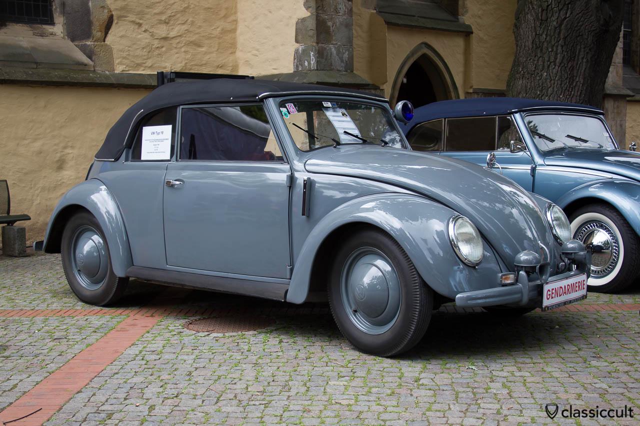 VW Käfer Typ 18 von 1950, Österreichische Gendarmerie Fahrzeug aus Wien Austria, Hessisch Oldendorf 2013