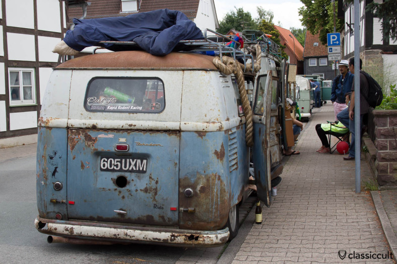Barndoor Bus, slammed and rusty, Vintage VW Hessisch Oldendorf 2013