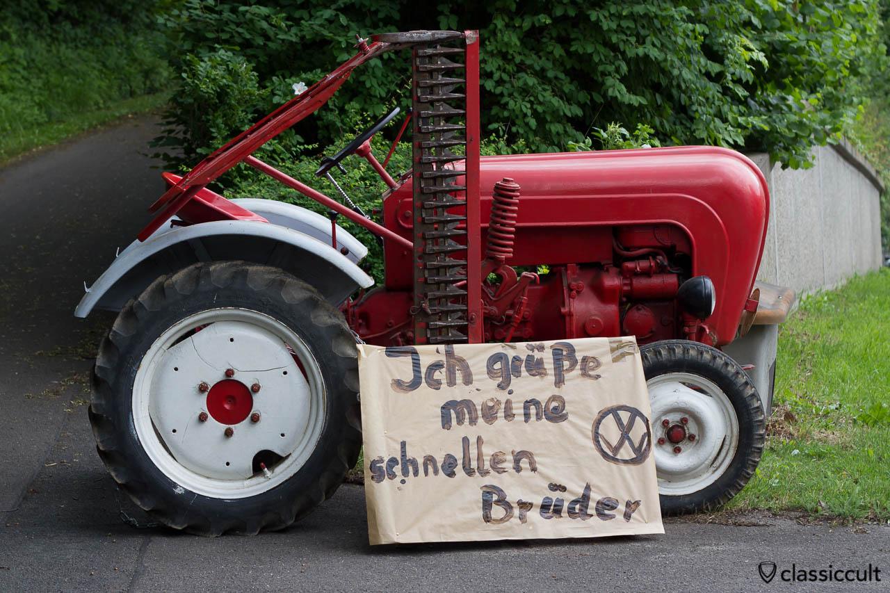"""Porsche Trecker """"Ich grüße meine schnellen Brüder."""" Hessisch Oldendorf VW 2013"""