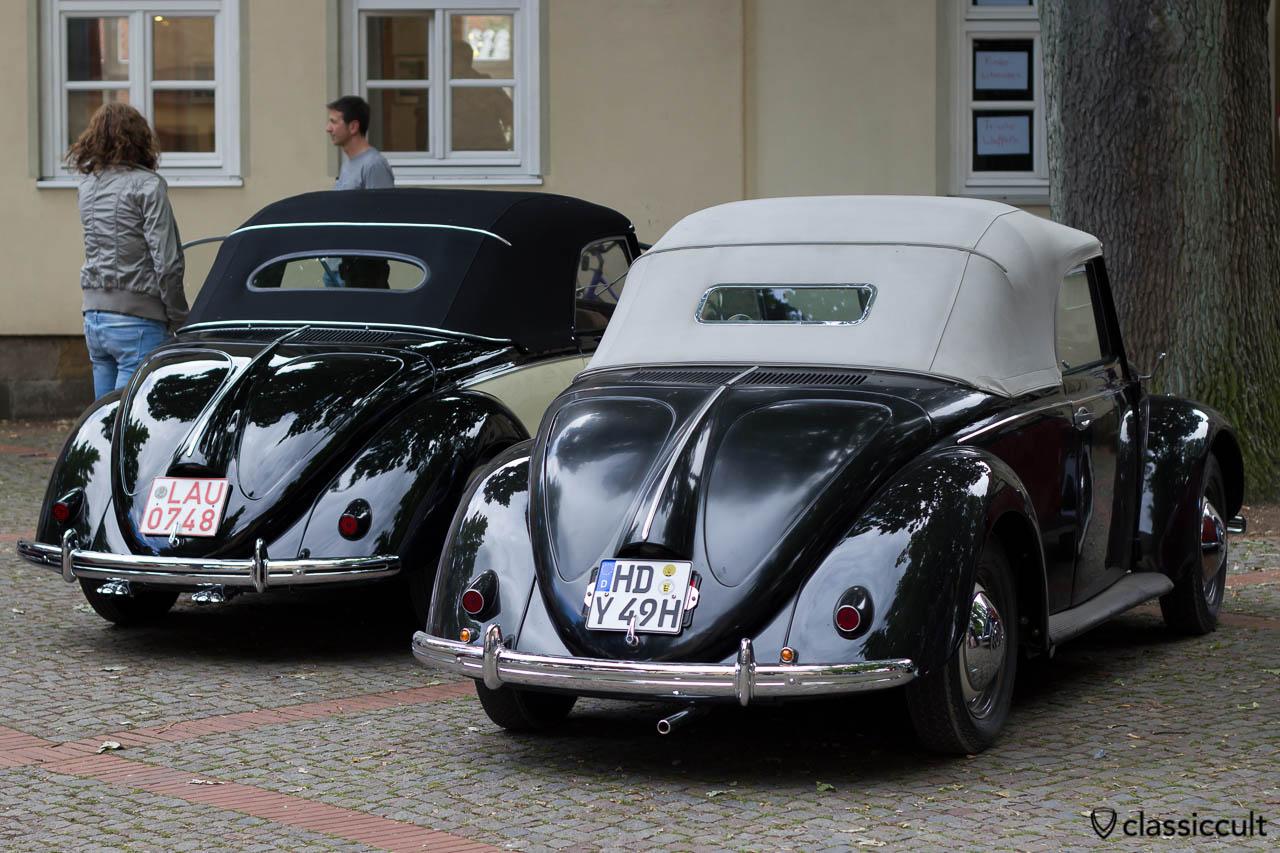 zwei Hebmüller Käfer aus Deutschland, VW Treffen Hessisch Oldendorf 2013