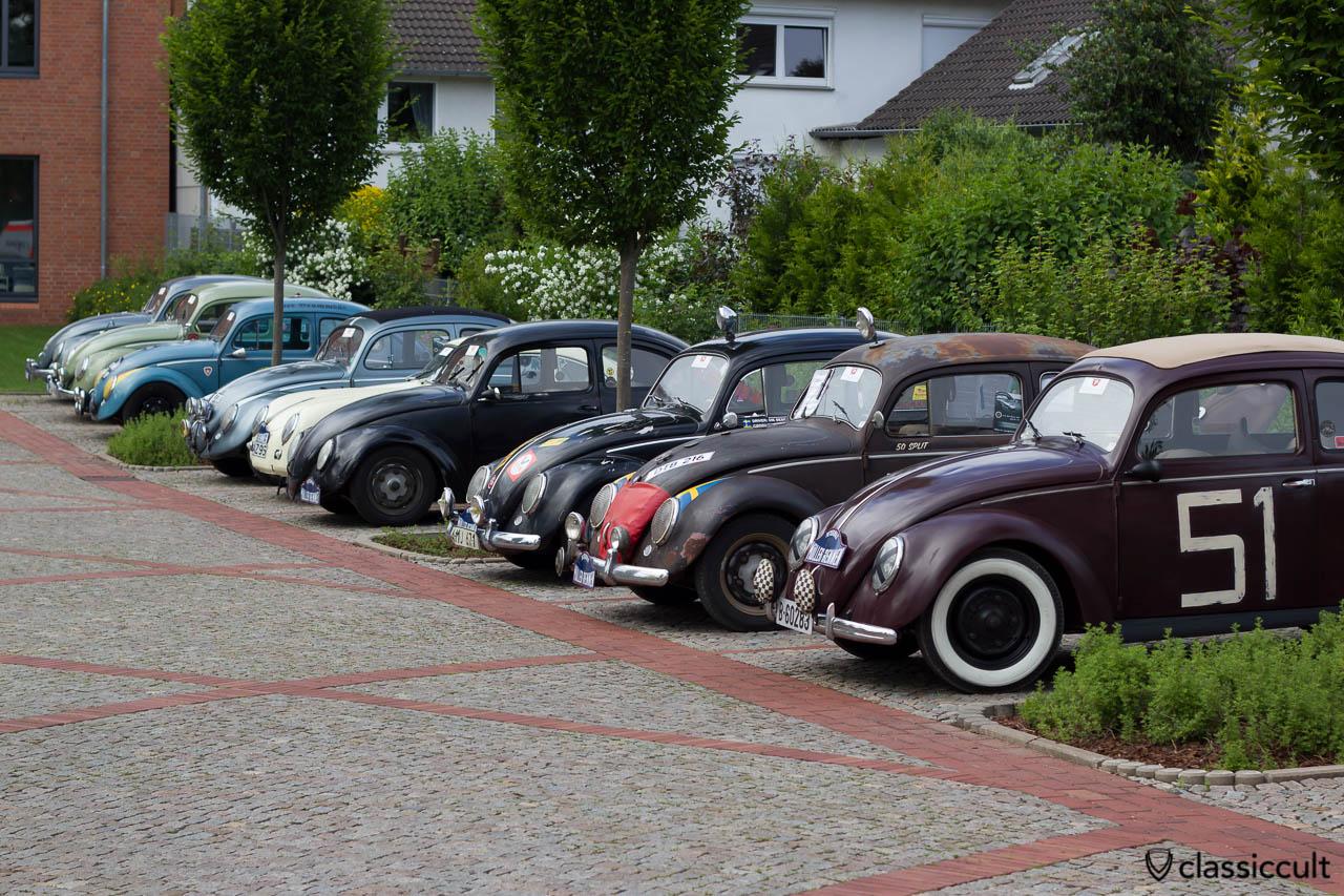Petermax Müller Rennen VW Käfer Line-up auf dem 6. Internationalen Volkswagen Veteranentreffen in Hessisch Oldendorf 2013