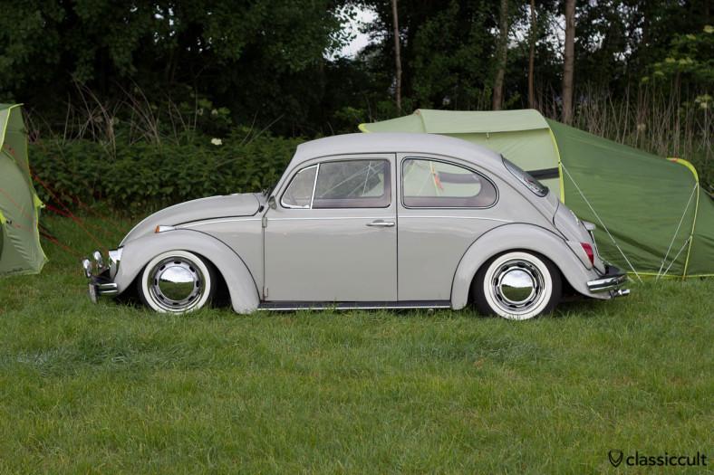 slammed VW Kever camping at IKW