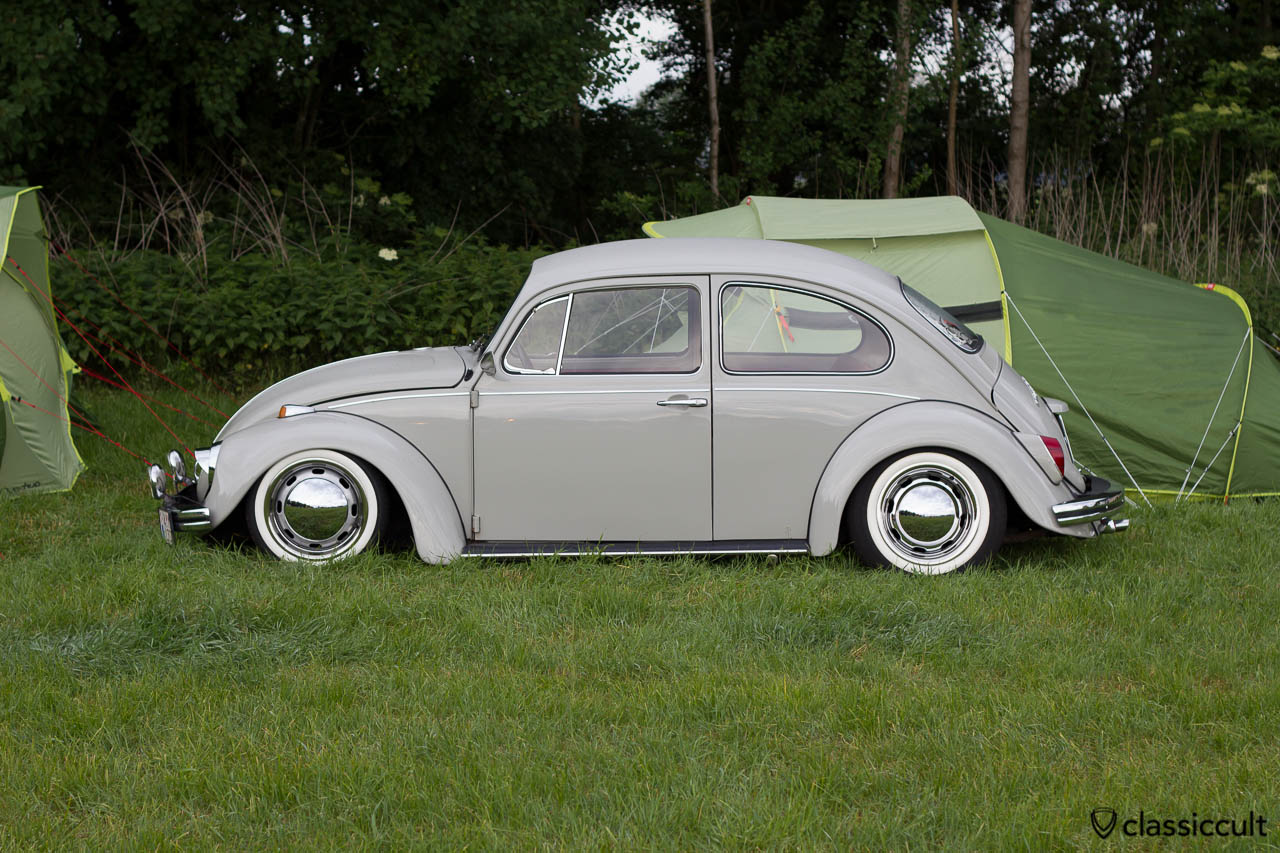 slammed VW Kever camping at IKW