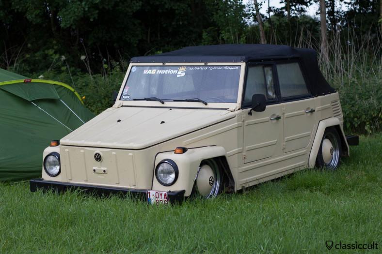 slammed VW 181 camping at IKW